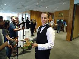 waiters serving odeurves to niff guests film directors waiter server film crews niff 2014 royal lounge white oaks resort spa st catharines