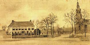 art artists vincent van gogh drawings part  1876 vicarage and church at etten pencil on paper