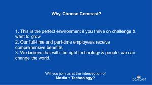 fast forward your career comcast careers 9 why choose comcast