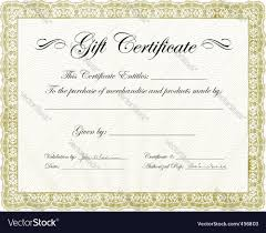vector gold gift certificate template vector image by vectormikes vector gold gift certificate template vector image