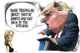 Image result for misogynist trump cartoons