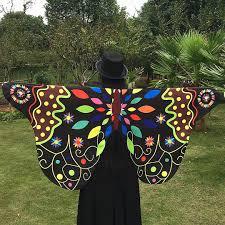 Multifit Womens Chiffon <b>Fairy Butterfly</b> Wing Capes Shawl ...