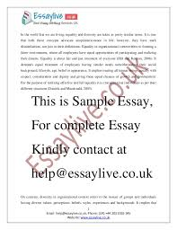 diversity essays Equality and Diversity Essay Sample It implies that     Equality and Diversity Essay Sample It implies that