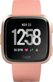 Fitbit Versa Smartwatch <b>Peach</b>/Rose Gold FB504RGPK - Best Buy