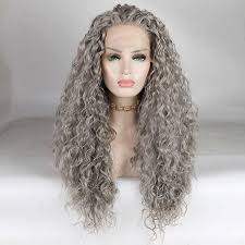 Fantasy <b>Beauty Long</b> Loose <b>Curly</b> Wig Synthetic Hair Lace Front ...