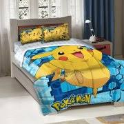 rollback pokemon big pikachu twinfull bedding comforter set bedding sets twin kids