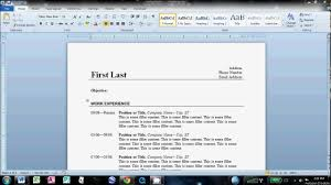 how to do a resume on word template how to do a resume on word