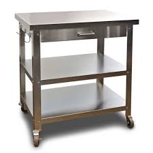 stainless kitchen work table: danver kitchen cart w stainless steel top