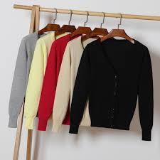 <b>Autumn New</b> Women Knitted <b>Cardigan</b> Fashon V Neck Long Sleeve ...