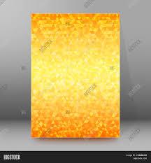mosaic honey gradient background brochure cover page stock vector mosaic honey gradient background brochure cover page