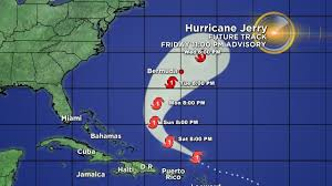 Hurricane Jerry Expected To Pass Well North Of Virgin Islands ...