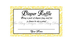 printable yellow damask diaper raffle tickets great for baby printable yellow damask diaper raffle tickets great for baby showers