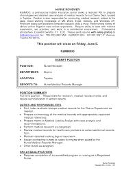 material handler job description resume medical records    medical records clerk