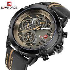 NAVIFORCE <b>Mens Watches Top Brand</b> Luxury Waterproof 24 hour ...