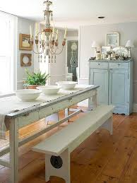 farmhouse style dining table designmeetstyle farm style chic pretty pastel dining room with a large