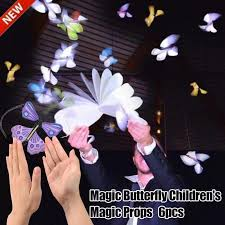 <b>6 Pcs Magic</b> Props Flying <b>Butterflies</b> Rubber Band Powered Surprise ...