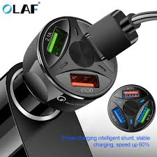 <b>OLAF</b> USB <b>Car Charger</b> Quick Charge 4.0 3.0 for iPhone Samsung ...