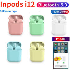2019 <b>Inpods i12</b> Tws Pop up Bluetooth <b>Earphone</b> Macaron 5.0 ...