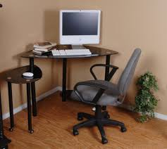 corner small computer desk with clear glass office desk computer astounding small black computer