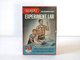 gilbert chemistry experiment lab box science box vintage lab 1956 gilbert chemistry experiment lab box 25 00 via
