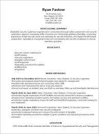 professional security supervisor resume templates to showcase your    resume templates  security supervisor resume