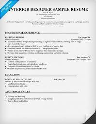 interior designer sample resume resumecompanioncom interior designer resume objective