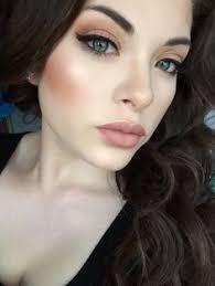peach blush makeup pale peach nails dark hair on pale skin dark hair green eyes pale skin nail color pale skin pale skin lip color winter makeup green