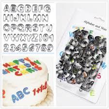 <b>DIY</b> 37pcs Alphabet Letter <b>Number</b> Cookie Baking Mould Biscuit ...