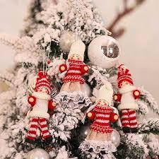 <b>4PCS Merry Christmas</b> Angel Plush Doll Ornament Xmas Tree Decor