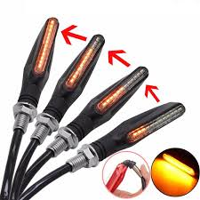 <b>4 Pcs Universal Flowing Water</b> Flicker Led Motorcycle Turn Signal ...