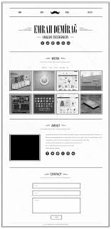 retro single page portfolio template psd psds sketch app template full page
