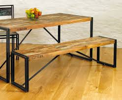 small dining bench: rustic industrial dining table chic hampshire furniture completed gallery dining room wall decor small