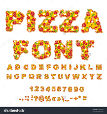 pizza font letters dough meal alphabet stock vector 428287837 letters dough meal alphabet fastfood abc italian feed fresh