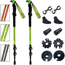 kaimei Trekking Poles Carbon Fiber Adjustable Flip ... - Amazon.com
