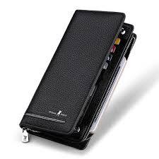 <b>Williampolo Men's</b> Genuine Leather <b>Wallet Long Purse</b> Card Holder ...