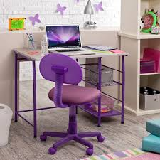 purple desk chair with round childs office chair