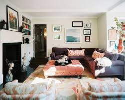 splashy cheap sectionals in family room eclectic with picture layout next to sofa throw blankets alongside chic western decor and throw pillows chic family room decorating