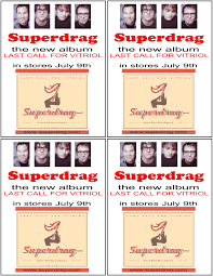 the superdrag street team flyers small color flyers