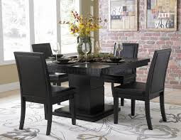 Contemporary Dining Room Furniture Sets Amazing Black Cherry Cafe Pedestal Dining Room Set Round Black