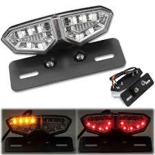 LED <b>Motorcycle</b> Brake Tail Turn Signal License Plate <b>Integrated</b> ...