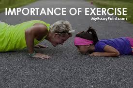 importance of exercise  my essay point importance of exercise