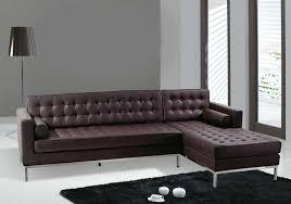 goth white leather sofa