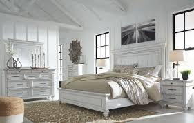 Kanwyn - Whitewash - <b>8 Pc</b>. - Dresser, <b>Mirror</b>, Chest, King Panel Bed ...