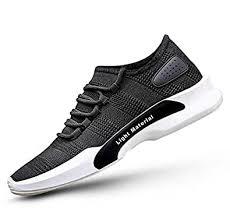Buy Footlodge Men's Black Lite <b>Mesh Casual Sports Shoes</b> at ...