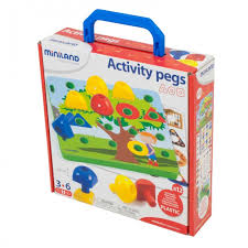 <b>Miniland Мозаика</b> Activity <b>Pegs</b> в чемоданчике - Акушерство.Ru