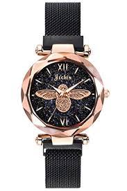 Jechin Fashion Starry Sky Watch Women Black ... - Amazon.com