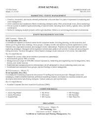 free event specialist resume examplethis   sample was provided by aspirationsresume com