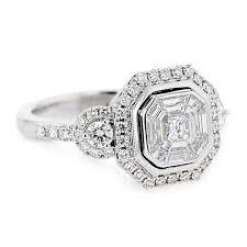 Diamond Octagon Halo Ring in 2019 | <b>Engagement rings</b>, <b>Big</b> ...