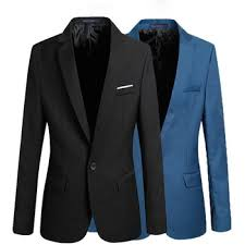 <b>Men's</b> Retro Chinese Stand Collar Casual Blazer Single Row Multi ...