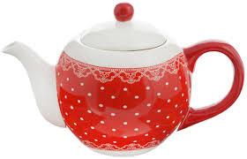 "<b>Чайник заварочный Loraine</b> ""Красный узор"", <b>950</b> мл. 25820 ..."
